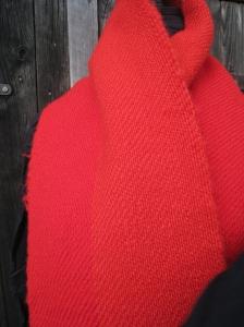 röd ylle sjal/halsduk